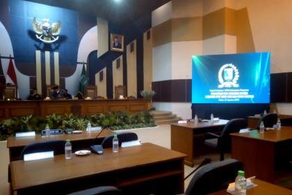 PARIPURNA I, Penyampaian Nota Pengantar Raperda Perubahan APBD 2020 Oleh Bupati